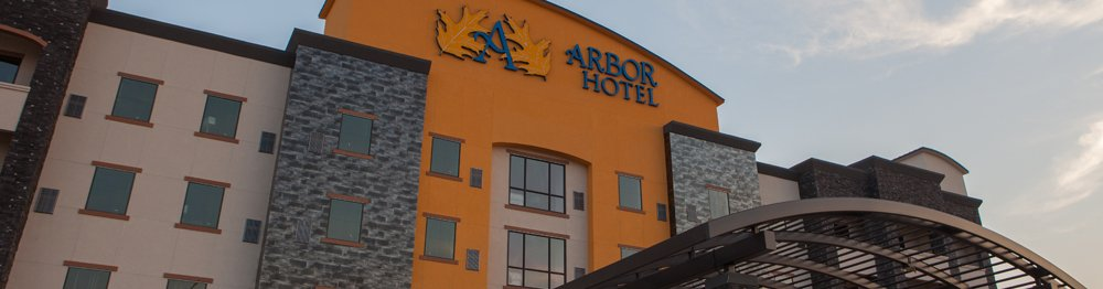 Front of the Hotel at sunrise Arbot Hotel & Conference Center