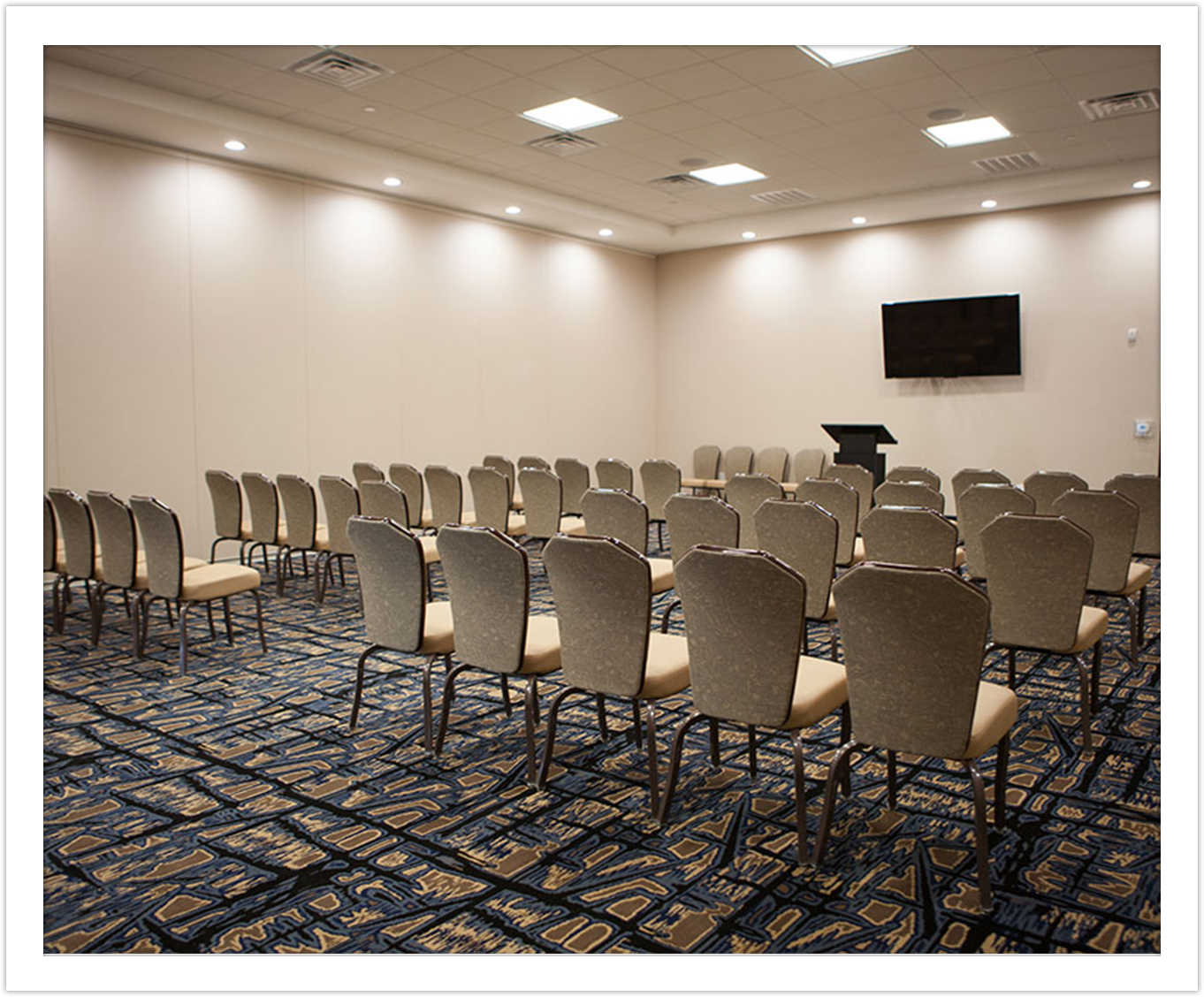 Conference Room with Flatscreen at Arbor Hotel and Conference Center Lubbock Texas