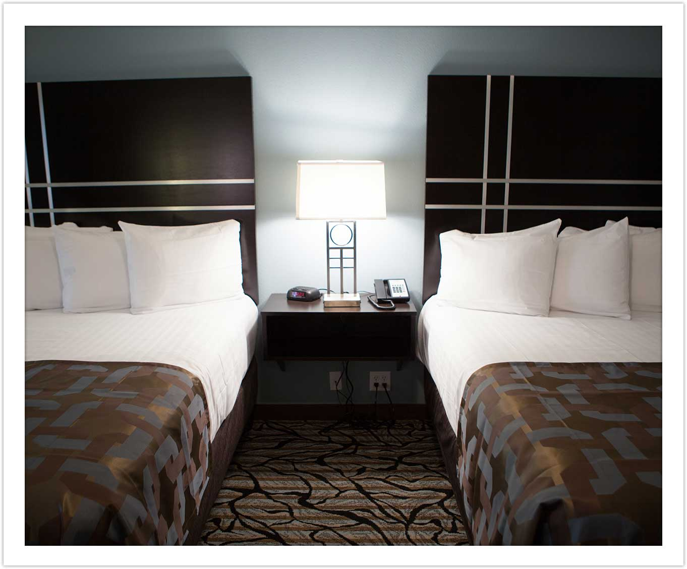 Double Queen Room at the Arbor Hotel and Conference Center Lubbock Texas