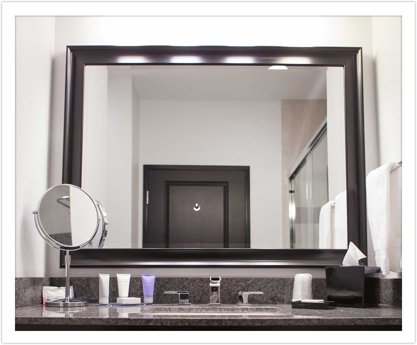 Bathroom Vanity at Arbor Hotel and Conference Center Lubbock Texas