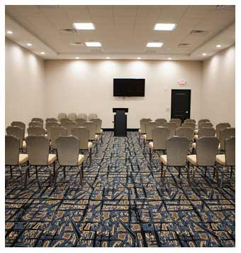 Banquet Room with TV at the Arbor Hotel & Conference Center