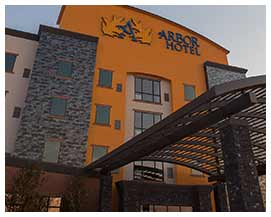 Image of the Entrance of Arbor Hotel & Conference Center